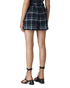 Whistles - Plaid Tie-Waist Shorts