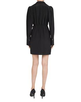 The Kooples - Bow-Detail Silk Mini Dress
