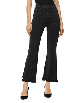 J Brand - Julia Frayed Flared Jeans in Undercover