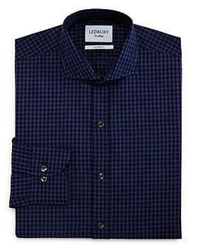 Ledbury - Crosswell Gingham Slim Fit Dress Shirt