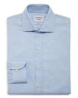 Ledbury - Crockett Herringbone Slim Fit Dress Shirt