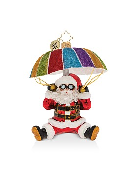 Christopher Radko - Look Out Below! Santa Ornament