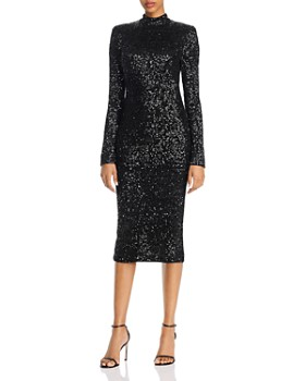 Rebecca Vallance - Mica Sequin Long-Sleeve Midi Dress