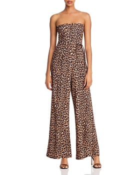 LIKELY - Emile Strapless Leopard-Print Jumpsuit