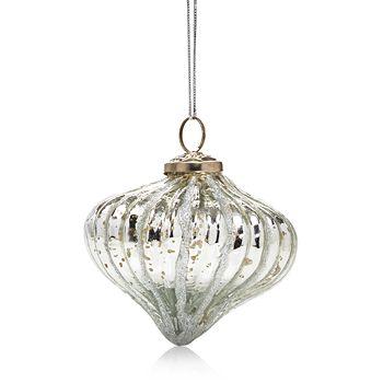 Aman Imports - Silver Onion Ornament