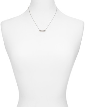 Bloomingdale's - Diamond Bar Pendant Necklace in Sterling Silver, 0.17 ct. t.w. - 100% Exclusive