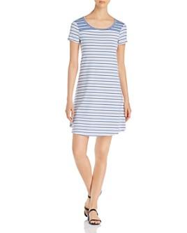 Cupio - Striped Back-Cutout Dress