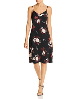 B Collection by Bobeau - Samar Floral-Print Slip Dress