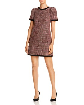 kate spade new york - Puff-Sleeve Metallic Tweed Dress