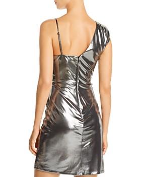 BCBGMAXAZRIA - Gunmetal Lamé Cocktail Dress - 100% Exclusive