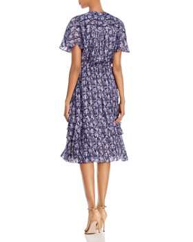 Shoshanna - Willow Paisley Lurex Midi Dress