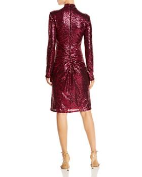 Tadashi Shoji - High Neck Ruched Sequin Dress