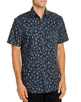 Sovereign Code - Solstice Short-Sleeve Leopard-Print Slim Fit Shirt