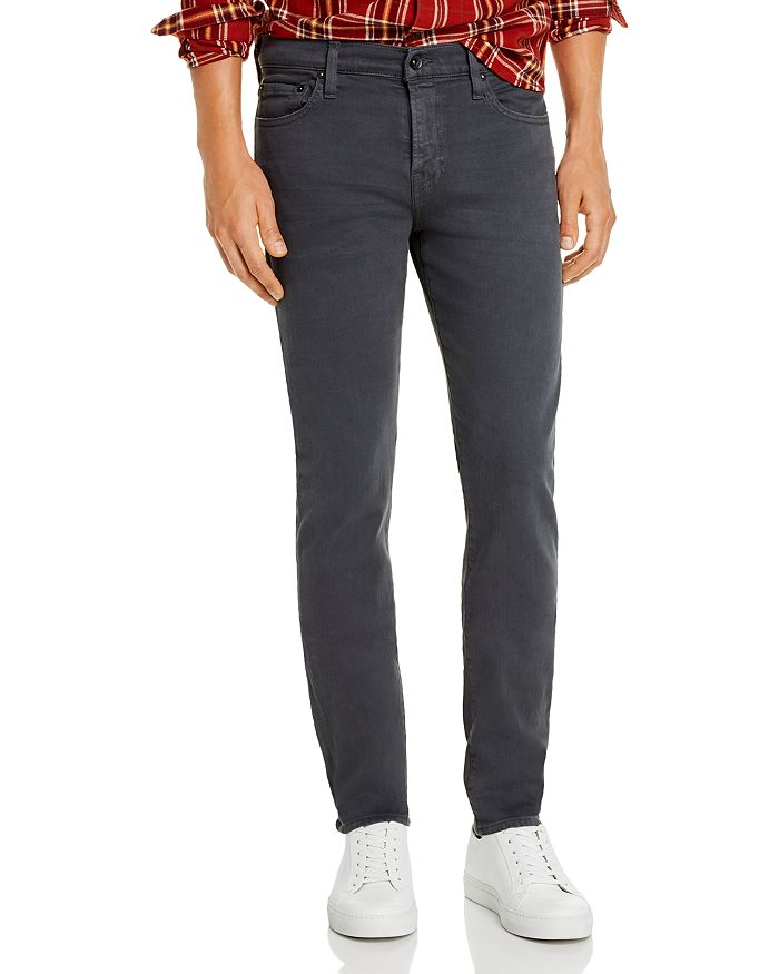 7 For All Mankind - Paxtyn Skinny Fit Jeans in Dark Gray