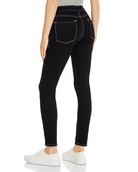 FRAME - Le Skinny Contrast-Stitch Jeans in Noir