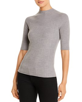 Donna Karan - Ribbed Elbow-Sleeve Sweater