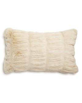 """Hudson Park Collection - Sculpted Faux Fur Decorative Pillow, 12"""" x 20"""" - 100% Exclusive"""