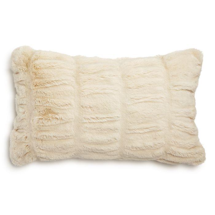 Hudson Park Sculpted Faux Fur Decorative Pillow 12 X 20 100 Exclusive