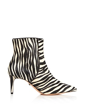 SCHUTZ - Women's Ravel Pointed Toe Zebra-Print Booties