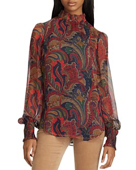 Ralph Lauren - Paisley Georgette Top