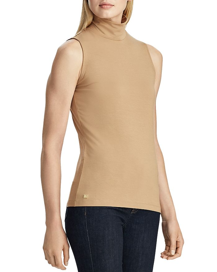 Ralph Lauren - Sleeveless Jersey Turtleneck Top
