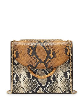 Loeffler Randall - Marla Square Snake-Print Convertible Shoulder Bag