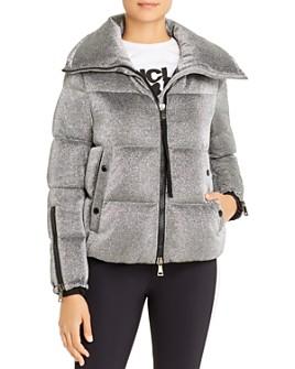 Choisia Asymmetric Zip Jacket W Fur Trim in Beige