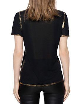 Zadig & Voltaire - Tino Gold Foil-Trimmed Tee