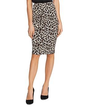 VINCE CAMUTO - Leopard Print Tube Skirt