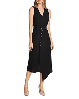VINCE CAMUTO - Belted Crepe Midi Dress