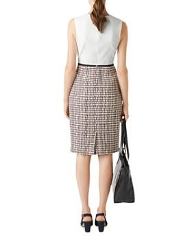 HOBBS LONDON - Gianna Tweed Detail Sheath Dress