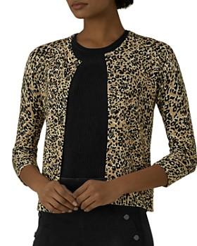 KAREN MILLEN - Leopard Print Cardigan