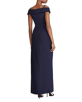 Ralph Lauren - Beaded Cold-Shoulder Gown