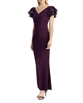 Ralph Lauren - Flutter-Sleeve Jersey Gown