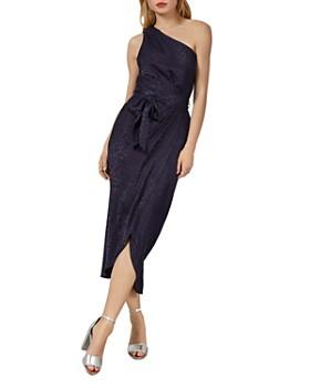 Ted Baker - Zoeii Leopard Jacquard One-Shoulder Dress