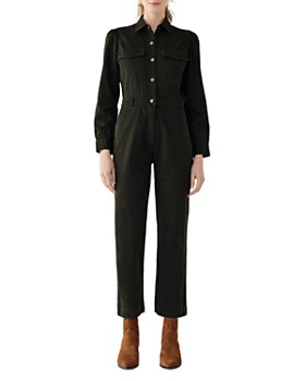 DL1961 - Freja Cropped Jumpsuit in Forester