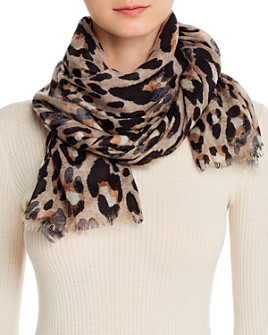 Bloomingdale's - Leopard Print Wool Scarf - 100% Exclusive