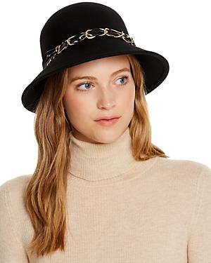 August Hat Company Scarf-Trim Felt Cloche
