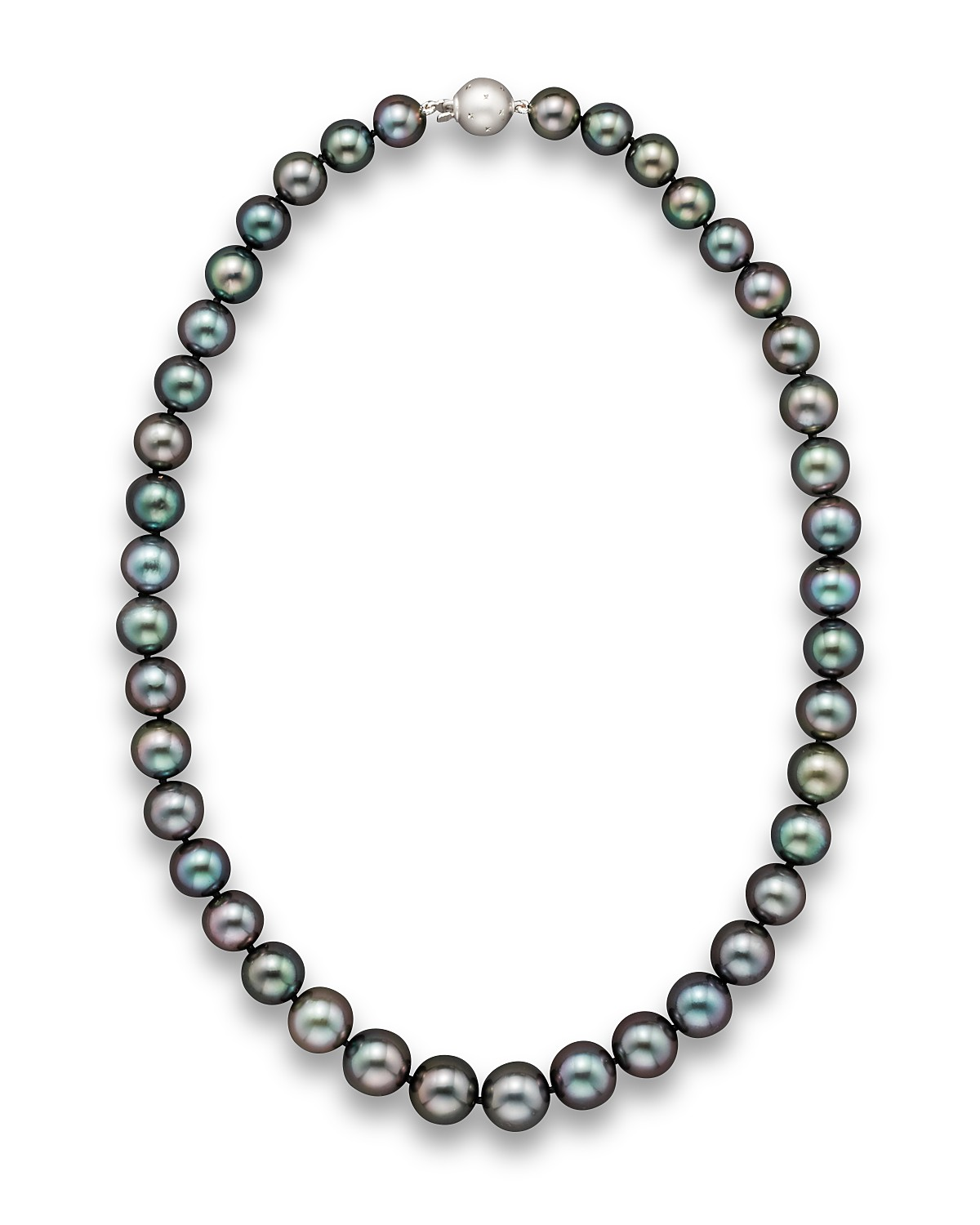 aaa x sea aubergine darkblack tahitian sterling necklace pearl south silver dark whitegold frontview black true