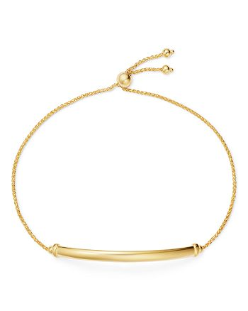 Bloomingdale's - Bar Station Bolo Bracelet in 14K Yellow Gold - 100% Exclusive