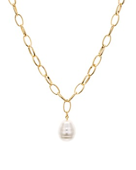 "AQUA - Cultured Freshwater Pearl Pendant Chain Necklace, 26"" - 100% Exclusive"