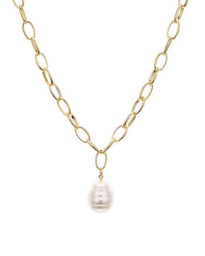 """AQUA - Cultured Freshwater Pearl Pendant Chain Necklace, 26"""" - 100% Exclusive"""