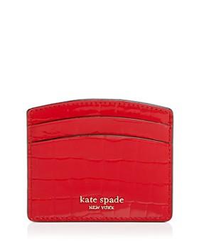 kate spade new york - Sylvia Croc-Embossed Card Case
