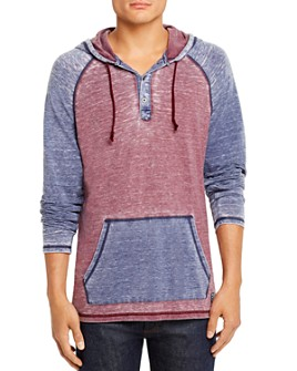Flag & Anthem - Keldron Burnout Color-Block Hooded Sweatshirt