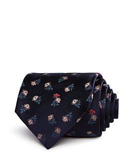 Paul Smith - Impressionist Flowers Pattern Classic Tie