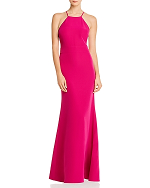 Laundry by Shelli Segal Cutout Racerback Gown