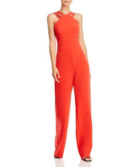 HALSTON - Strappy High-Neck Jumpsuit - 100% Exclusive
