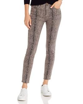 AQUA - Snake Print Skinny Jeans in Grey - 100% Exclusive