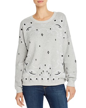 Minnie Rose - Bandana Jacquard Sweater