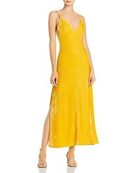 O.P.T - Pheme Velour Maxi Slip Dress